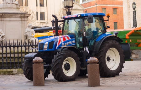 agronomics: LONDON-JANUARY 16TH: tractors outside St Pauls cathedral on the 16th of january 2013 in London, uk. The event was to mark the start of agriculture year.