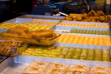 trays of baklava  photo