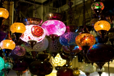 Turkish hanging lanterns  photo