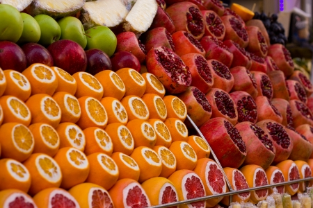 Shop display of fruit in turky