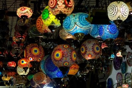 turkish hanging lanterns   photo