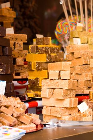 candy shop: shop display of sweets