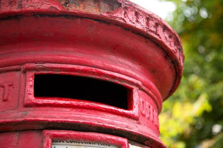 pillar box: red postbox