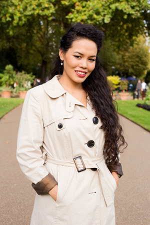 mixed race girl: portrait of a beautiful young woman Stock Photo
