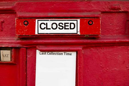 pillar box: a disused british red letter box