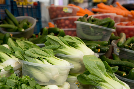pak choi at a farmers market photo