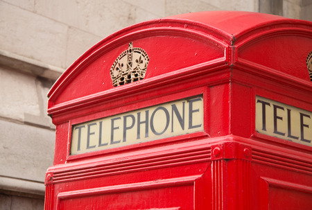 antique booth: iconic red telephone box
