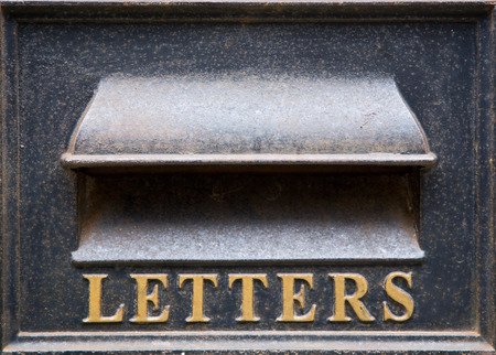 letterbox: old fashioned letterbox. Stock Photo