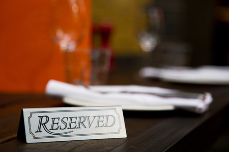reserved table photo