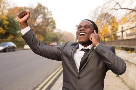 business man celebrating photo