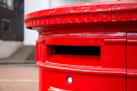 pillar box: Red london postbox
