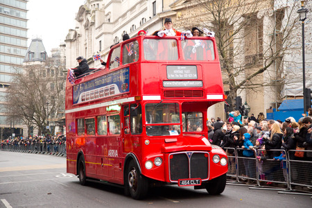 new years day: LONDON - JANUARY 1ST: New years day parade on January the 1st 2015 in London, England, UK
