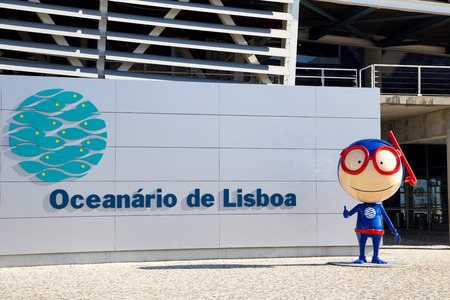 oceanario: LISBON, PORTUGAL- January 12th, 2015: The exterior of the aquarium in Lisbon on the 12th of january 2015 Lisbon, Portugal. The lisbon aquarium is the 2nd biggest in europe. Editorial