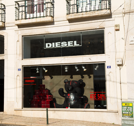 chiado: LISBON, PORTUGAL- January 12th, 2015: Diesel in Lisbon on the 12th of january 2015 Lisbon, Portugal. Diesel is an iconic jeans retailer. Editorial