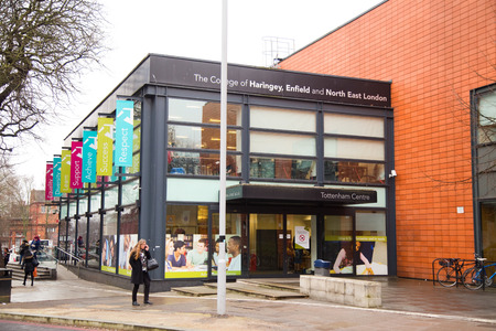 enfield: LONDON - JANUARY 21st: college of harringey enfield and north east london on January the 21st, 2015, in London, England, UK. The UK education system is ranked 6th in the world. Editorial
