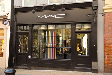 suppliers: LONDON - JANUARY 22nd: The exterior of MAC on January the 22nd, 2015, in London, England, UK. Mac is one of the UKs leading makeup suppliers.