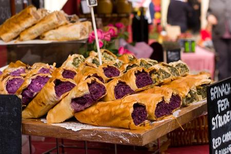 filo: filo pastry struddles Stock Photo