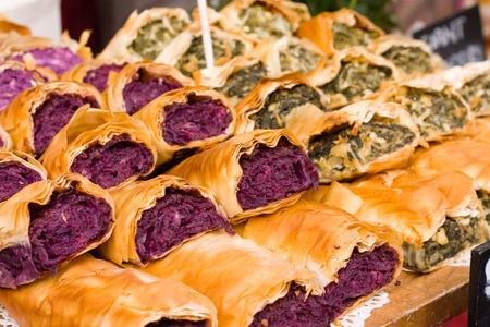 filo pastry: filo pastry strudle