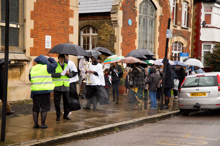 christianity palm sunday: LONDON - MARCH 29TH: Unidentified people at a palm sunday procession on March the 29th, 2015, in London, England, UK. Palm sunday is an annual religious celebration. Editorial