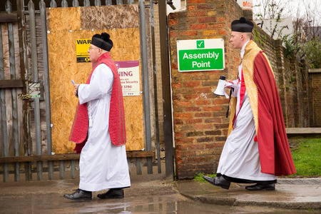 palm sunday: LONDON - MARCH 29TH: the priests at a palm sunday procession on March the 29th, 2015, in London, England, UK. Palm sunday is an annual religious celebration.