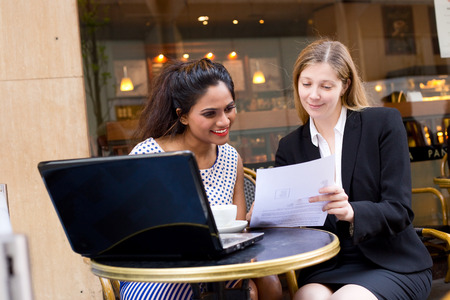 coffeeshop: business meeting