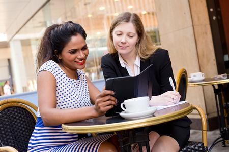 modern girl: business meeting