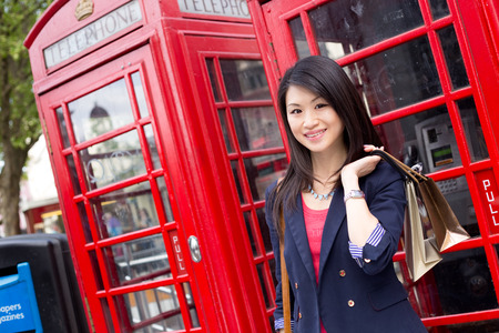 young chinese tourist in London Stock Photo