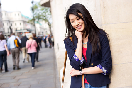 girl pose: portrait of a pretty chinese girl