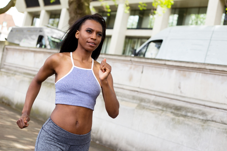 african american woman: african american woman going for a run