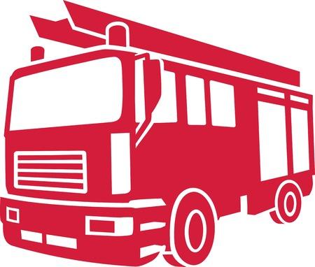 Firefighter Car Illustration