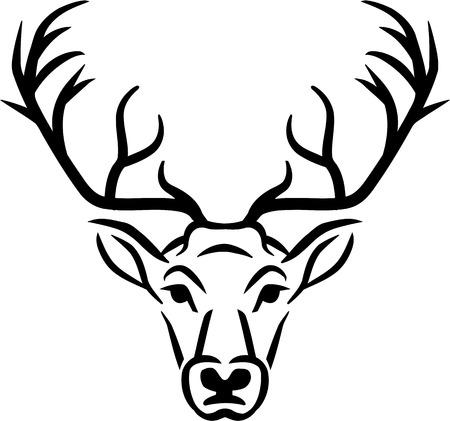 Deer hoofd Stock Illustratie