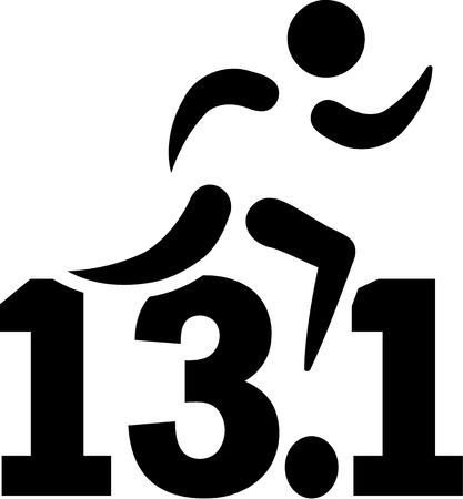 marathon: Half Marathon 13.1 miles Illustration