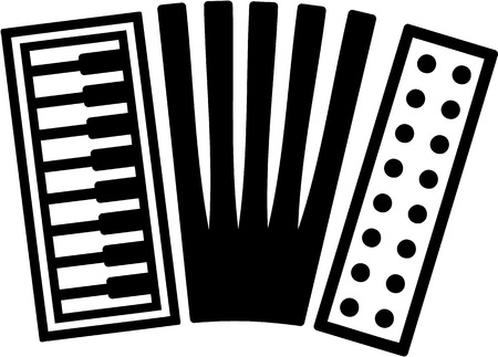 an accordion: Acorde�n Icono Vectores