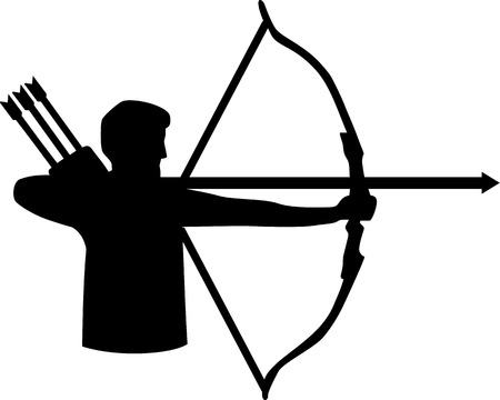 longbow: Archery Silhouette Illustration