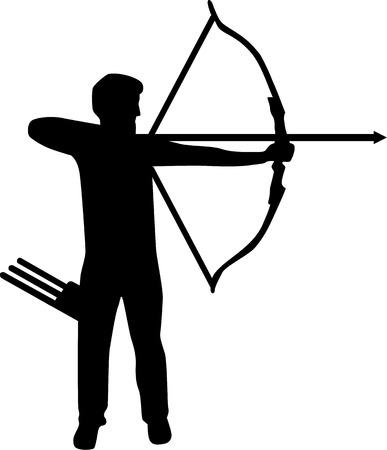 Archer Silhouette  イラスト・ベクター素材