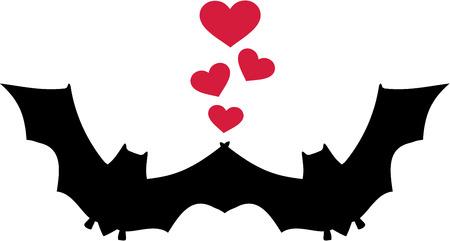 Bat Love Vector