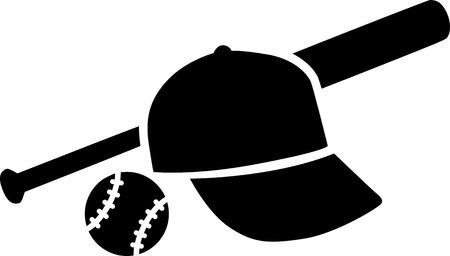 baseball bat with ball and cap royalty free cliparts vectors and rh 123rf com Baseball Bat Vector Silhouette Baseball Bat Vector Logo