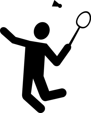 competitive sport: Badminton Pictogram Illustration