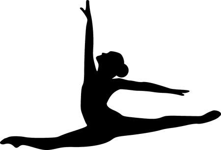 zapatillas ballet: Salto del bailar�n de ballet Vectores