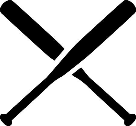 pelota de beisbol: B�isbol palos cruzados