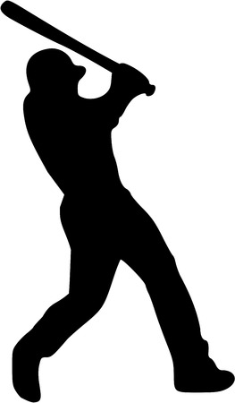 batter: Baseball Batter Player Silhouette