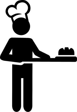 Baker Bakery Illustration Stock Illustratie