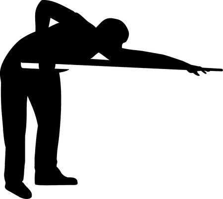 pool player: Pool Player Silhouette Illustration