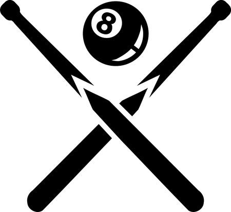 bola ocho: Queque piscina de ocho bolas
