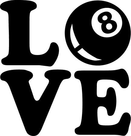 bola ocho: Amor piscina de ocho bolas
