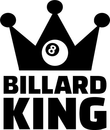 billard: Billard King Eight Ball Illustration