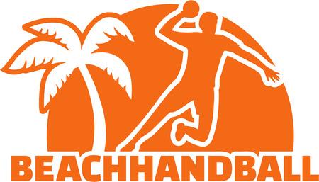 Beachhandball Palm and player