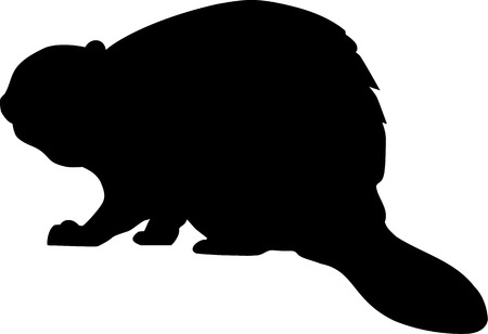beaver silhouette royalty free cliparts vectors and stock illustration image 40785370