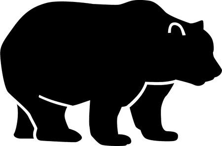 bear silhouette: Orso Silhouette