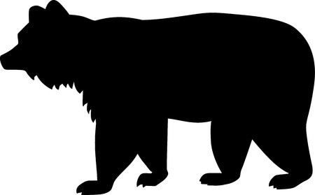angry bear: Brown Bear Silhouette